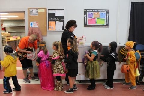 Kindergarteners go Trick or Treating 2